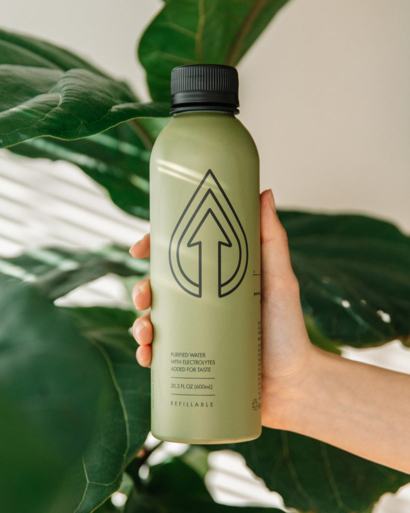 Reusable aluminum water bottle