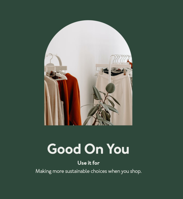 company title and image of clothes