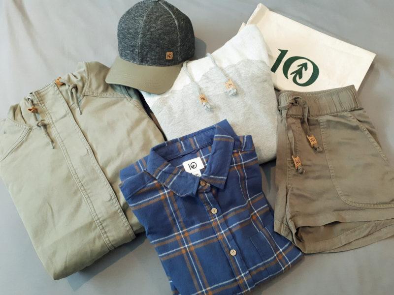 tentree clothing folded