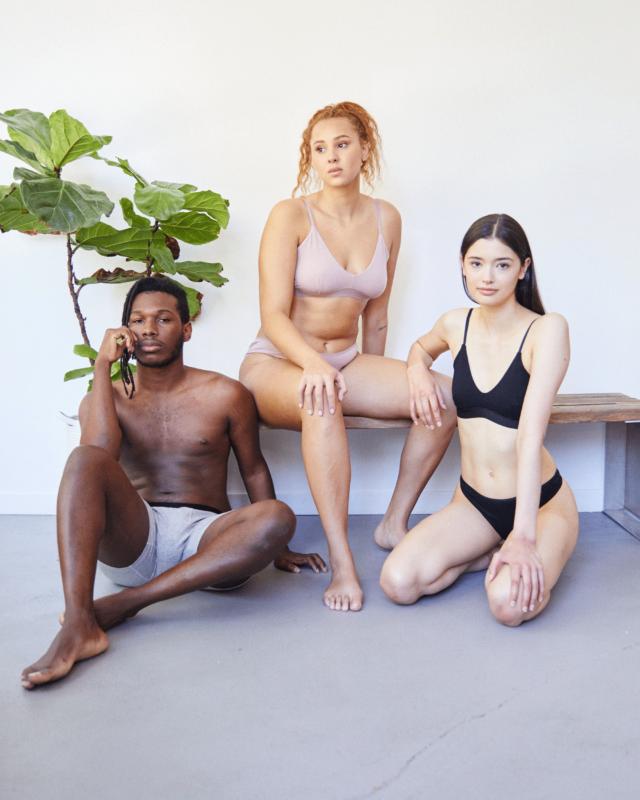 man and women in underwear