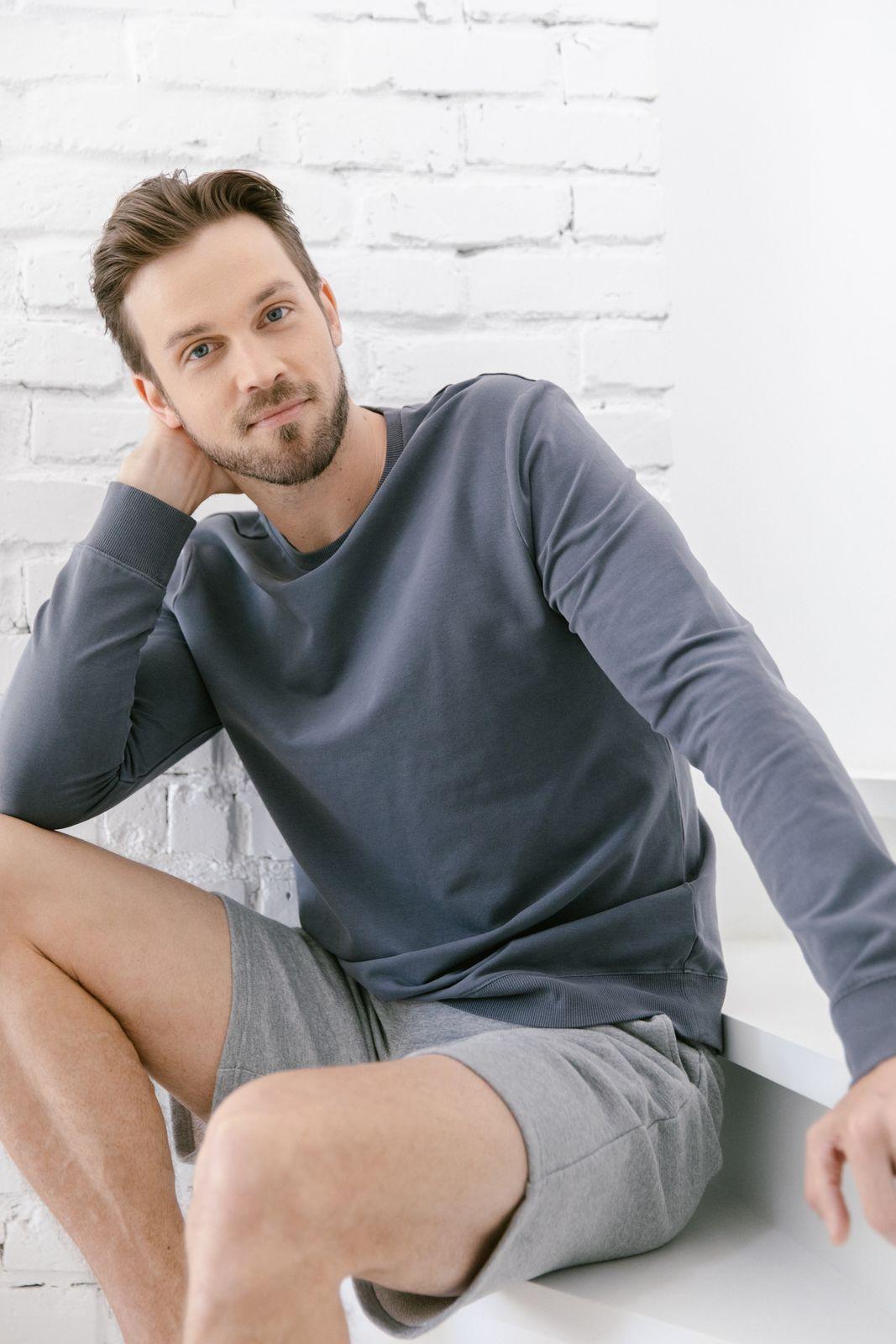 man in comfy clothes