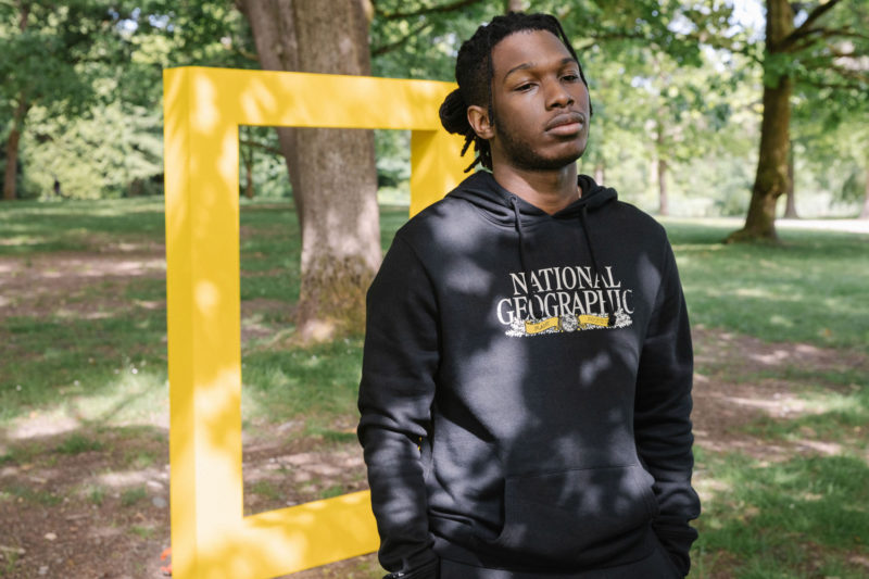 man in national geographic sweater